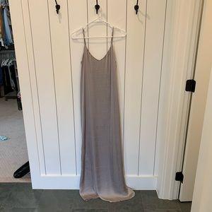Show Me Your Mumu Silver Silk Maxi Dress